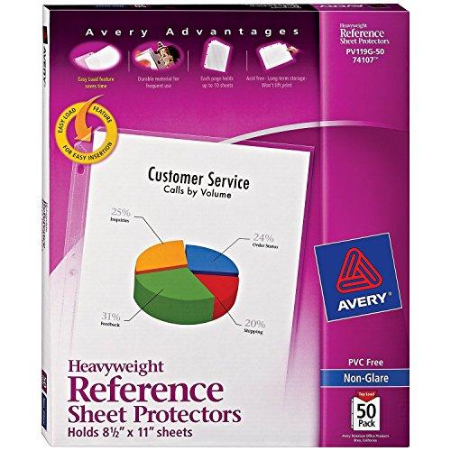 Avery Economy Bettlakenschoner schwergewichtig 50 Protectors Non-glare