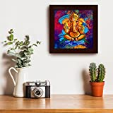 #10: Story@Home Artistically Designed  'Ganesha' Framed Wall Art Painting (Wood, 30 cm x 3 cm x 30 cm)