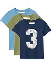 RED WAGON T-Shirt con Stampa Bambino, Pacco da 3