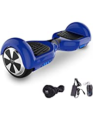 Cool&Fun Hoverboard 6,5 pouces Smart Scooter Skateboard Électrique Gyropode 2x350W (Bleu) …