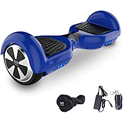 "Cool&Fun Balance Board Patinete Eléctrico Scooter Monopatín Eléctrico Auto-equilibrio Patín 6.5"" LED 350W*2(Azul)"