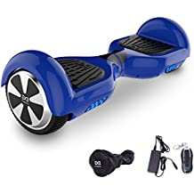 "Cool&Fun Hoverboard Patinete Eléctrico Scooter Monopatín Eléctrico Auto-equilibrio Patín 6.5"" LED 350W*2 de SHOP GYROGEEK(Azul)"