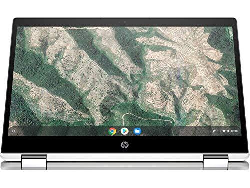 HP Chromebook 14b-ca0015TU x360 Thin and Light Touchscreen 14-inch HD Laptop (4GB/64GB SSD + 100 GB Cloud Storage/Chrome OS/Intel UHD Graphics), Natural Silver Image 4
