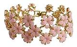 Trachtenarmband - Vintage Trachtenschmuck mit Blüten - für Dirndl & Lederhose (Rose / Rosa)