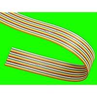 FLACHBANDKABEL 40-Adrig/Polig/Pin | Meterware (EUR 4,99/m) | FLACHBANDLEITUNG-AWG28 im 1,27mm-Raster (Pitch) | Farbige FBL/Rasterstegleitung mit IEC-Ader-Farbfolge | Flache, flexible, Band-Leitung/Kabel regenbogenfarben | Deutsches Qualitätsprodukt ! Made in Germany !