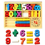 JUNGEN Mathematics Educational Toys Math Abacus and Clock - Best Reviews Guide