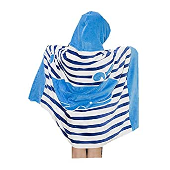 kids poncho capuche beach sortie de bain b b gar ons filles serviette capuche natation. Black Bedroom Furniture Sets. Home Design Ideas