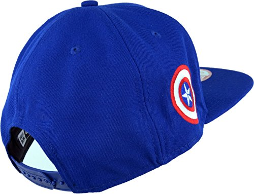 Casquette Snapback 9FIFTY Retro Flecked Captain America bleu NEW ERA Bleu
