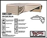 RHS220 Loungemöbel Abdeckhaube für L-Form, passt am besten am Set von max. 215 x 215 cm. Abdeckung für Lounge Eckset, Schutzhülle in L-Form für Lounge Sets, Schutzplane, Regenschutz Ecklounge
