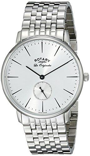 Rotary gb90050/06 - Reloj de pulsera hombre, acero inoxidable, color Plata