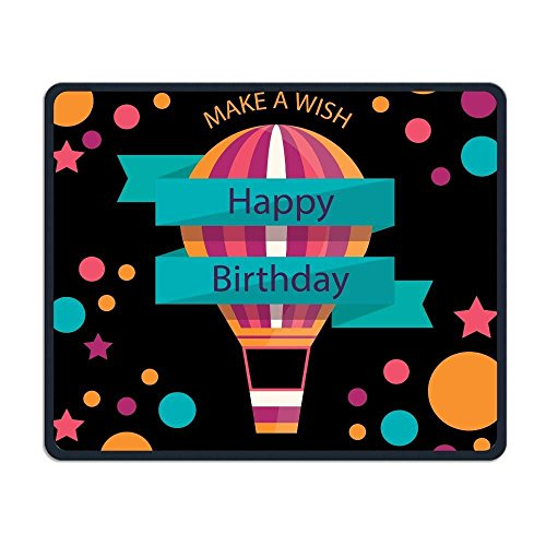 Smooth Mouse Pad Happy Birthday Hot Air Balloon Mobile Gaming MousePad Work Mouse Pad Office Pad
