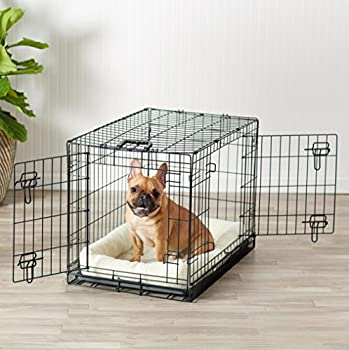 AmazonBasics Cage pliante en métal avec 2portes pour chien TailleM