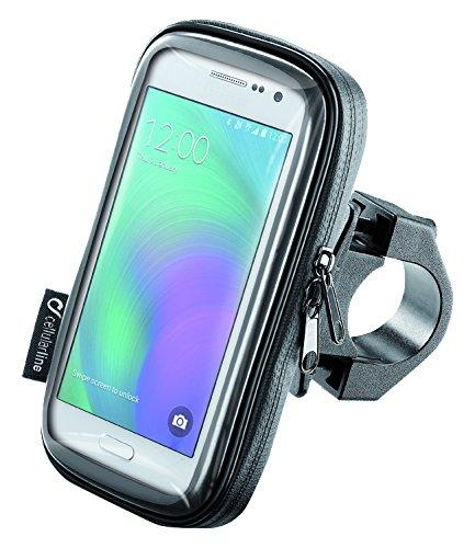 Cellularline SMSMART45 Etui Universel avec Support pour Guidon Tubulaire pour Smartphone 4.5\