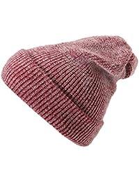 Longra Cappelli In Maglia Per Cappelli Da Uomo e Donna Berretto Beanie Hat  Pera Jersey Classico Cap Berretti Sportivo 35% Cotone + 65%… fade0ba48142