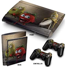 "PS3 Super Slim Playstation Pegatinas de PVC para la Consola + 2 Controladores Decal Protector Arte ''Banana"""