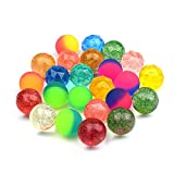 Onepine 24 Stück 3 Stile Flummis 30mm, Gummiball - Springbälle - Hüpfball für Bulk-Set für Kinder Mini Super Flummis