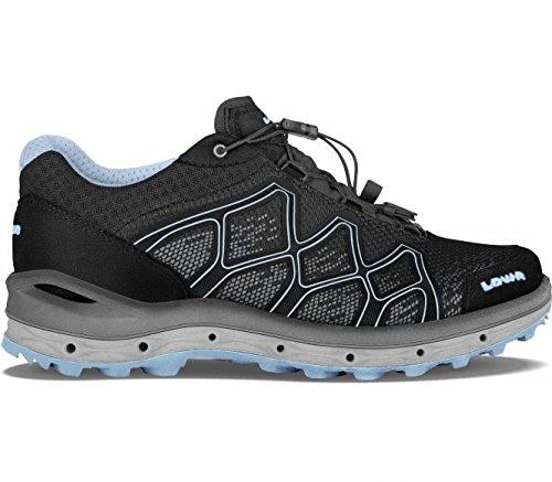 Lowa Aerox GTX Lo WS, Chaussures de Randonnée Hautes Femme, Schwarz/Eisblau, 4.5 UK