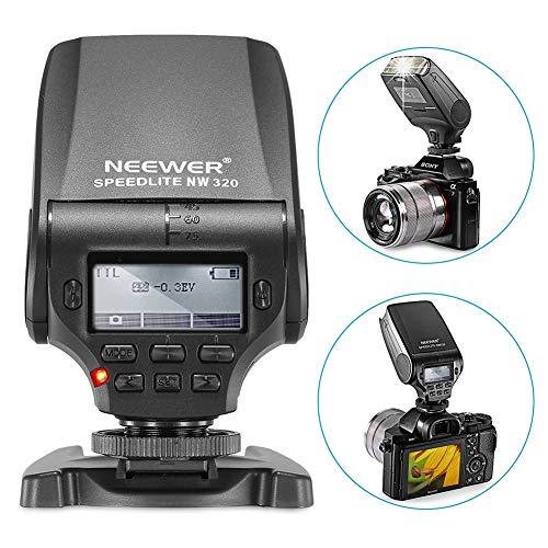 Neewer NW320 Mini TTL Speedlite Blitz Automatikblitz Kompatibel mit Sony MI Blitzschuh DSLR und spiegellosen Kameras A6000 A6300 A6500 A7 A7II A7RII A7RIII...