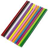 Ewparts 50 pc Pack farbige Glitzer Kunst Handwerk Heißleim Pistole Kleber Sticky Sticks, 7mm * 100mm (Colored-11pcs 11x250mm)