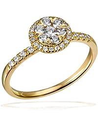 Goldmaid Damen-Ring 585 Gelbgold Diamant (0.46 ct) weiß Brillantschliff - Pa R7694GG