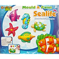 Kreative Kids Sea Life Mould And Paint Fridge Magnet Plaster Cast Kit