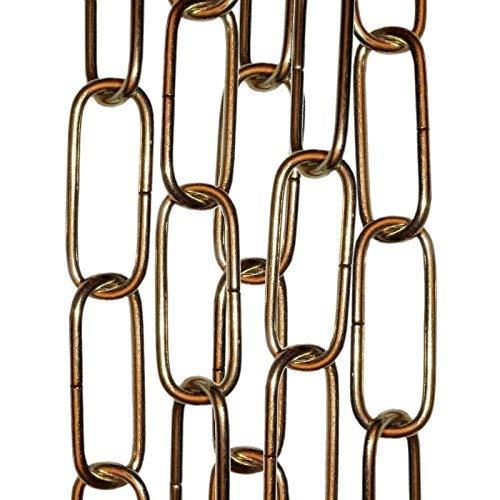 Messing Poliert Kette (Kette zur Befestigung von Deckenleuchten, Spiegeln oder Bildern, Preis pro 50cm Art Deco poliertes Messing)