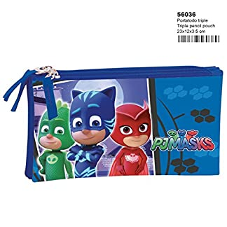 PJ Masks Night – Estuche portatodo Triple (Perona 560361)