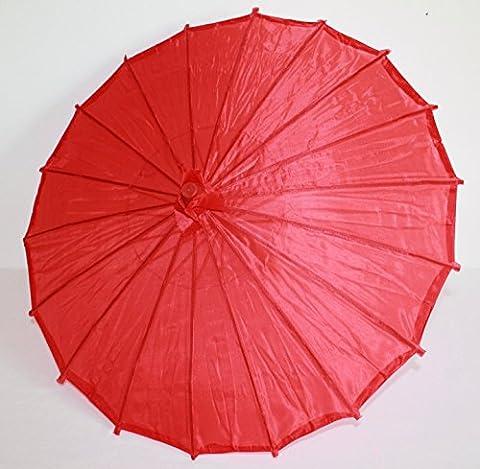 AAF Nommel ® Deko- Kinder- Sonnenschirm aus Stoff und Holz rot, 011