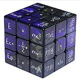 SXPC Impression UV Math Formula 3x3x3 Cube Magique 5,6 cm Jouets éducatifs pour Enfants Garçons,Black