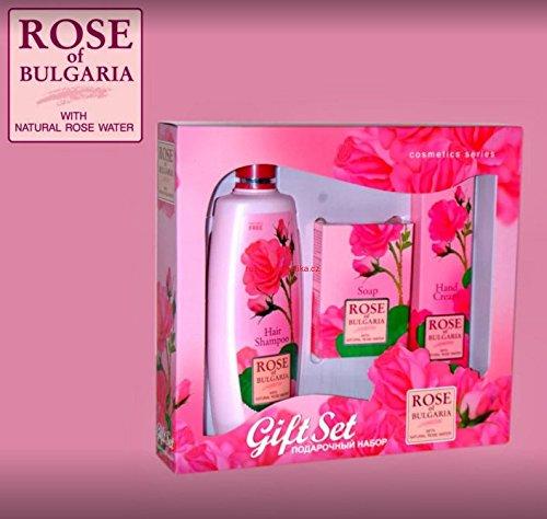 GeschenkSet Rose -Haar Shampoo 330ml & Seife 80gr & Hand Creme 75ml