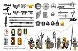 MAGMABRICK Disfraz de Centauro con casco amour y arma en la Edad Media. Compatibilidad con la figura de LEGO mini.