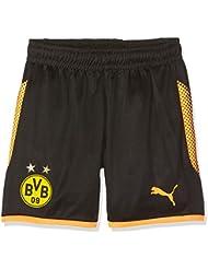 Pantalones cortos Puma BVB GK, Otoño-invierno, infantil, color Puma Black-Fluo Orange, tamaño 152