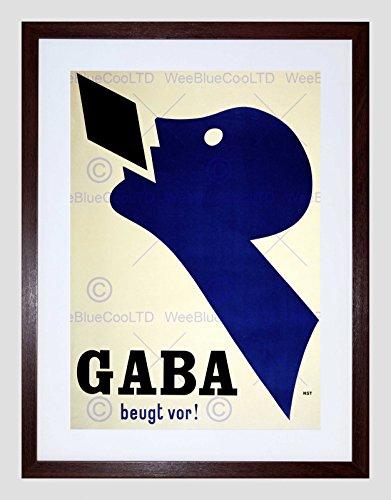 Preisvergleich Produktbild AD MEDICINE GABA COMMON COLD LOZENGE BASEL SWITZERLAND FRAMED PRINT B12X3175