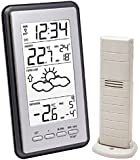 La Crosse Technology WS9130IT-S-MEG Weather Station with Indoor / Outdoor Temperature Metallic Grey with Radio Controlled Clock timing signal from Frankfurt Germany