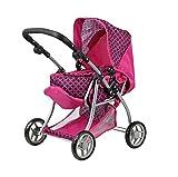 Passeggino da bambina - 3 in 1 carrozzeria polso - Trasformabile in passeggino - Tetto rimovibile - manubrio regolabile in altezza: 30 - 62 cm - pieghevole.