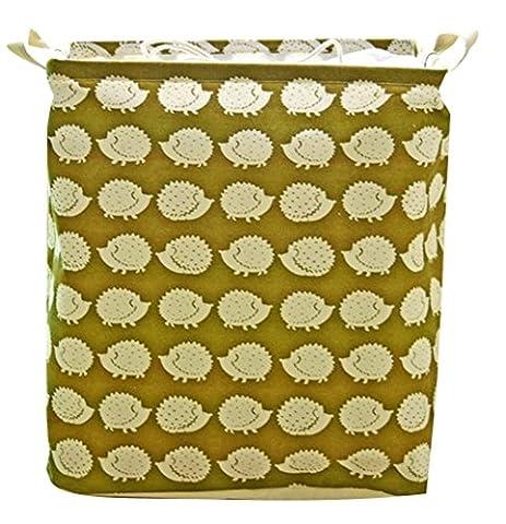 Moolecole Pliable ronde Panier à linge Jouets pour enfants Organiseur Toy Storage panier de lavage Vêtements Support avec Totes Hedgehog