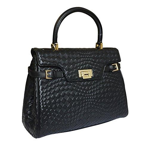 Fontanelli Lisetta progettista pelle intrecciata borsa - nero nero