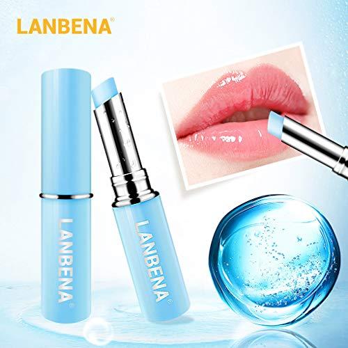 Naturkosmetik Lippenpflege natürlicher Lippenbalsam, Lipstick Hydration & Repair, Lippenstift langlebiges Matt lippenstift Farbe kosmetisches Schönheits Make-up lippenbalsam trockene lippen
