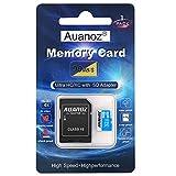 Scheda Di Memoria TF Da 32 GB, Auanoz Ultra Class 10 UHS-I Scheda Di Alta Velocità Memoria per Telefono, Tablet e PC - Con Adattatore.(Blu-32gb)
