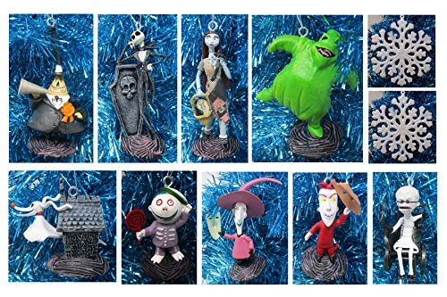 ORNAMENT Weihnachtsbaum-Set Nightmare Before Christmas, 12-teilig, einzigartiges bruchsicheres Kunststoffdesign