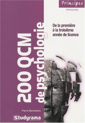 200 QCM de psychologie par Pierre Benedetto