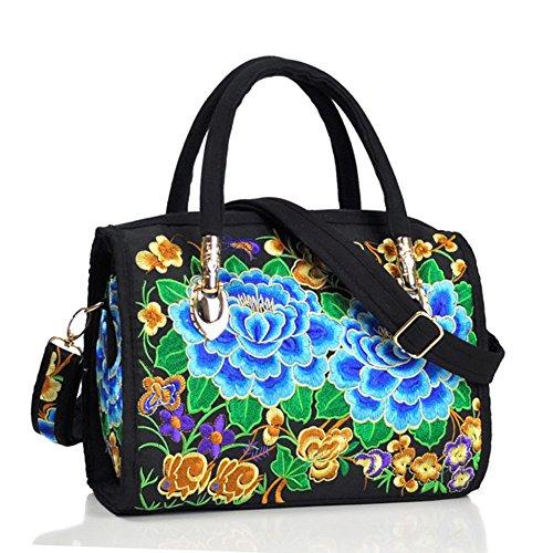 Peony ricamo Handbags–Memorecool Portable design for Girls Lady stile elegante e bella sentimenti 470g flower8 flower5