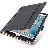 """iPad PRO 12.9"""" 2017 Hülle   JAMMYLIZARD Ledertasche Flip Case [Business Tasche] Leder Smart Cover Lederhülle, Schwarz & Honig [mit Eingabestift & Pencil Halter]"""