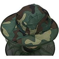 TININNA Camouflage Anti-zanzara dell insetto Mesh Cappello Campeggio di  Cappello Apicoltore Cappello fd6a45be58b2