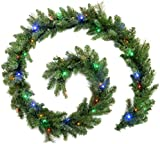 WeRChristmas 9 ft Pre-Lit Garland Christmas Decoration Illuminated with 40 Multi Colour LED Lights