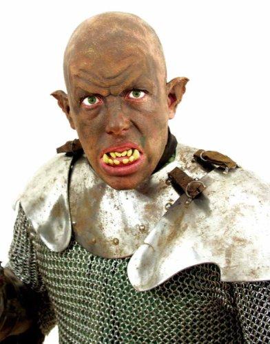Zähne Gebiss Kostüm Zubehör Ork Halloween Karneval (Zähne Ork Kostüm)