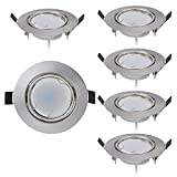 Lot de 6 Spot LED encastrable Ultra Plat avec 6 x 5 W Dimmable Ampoule 220V Spot...