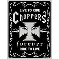 hotrodspirit – Placa Live to Ride Chopper Negro Cruz de Malta ...