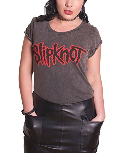 Slipknot - Top - Maniche corte - Donna Nero  nero