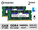 Timetec Hynix IC Apple 32GB Kit (2x16GB) DDR4 2400MHz PC4-19200 SODIMM Memory Upgrade For iMac Retina 4k/5K 21.5-inch/27-inch Mid 2017 (32GB(2x16GB))